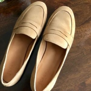 J Crew Suede Penny Loafers Size 9.5